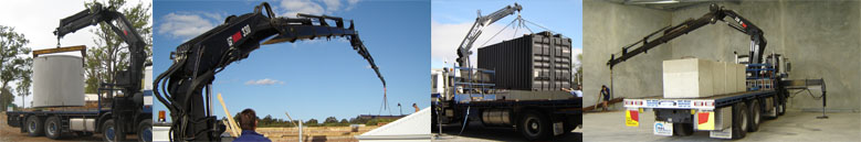 Some of our hiab cranes in action around Perth